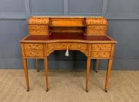 Inlaid Satinwood Carlton House Desk by Jas Shoolbred (23 of 25)