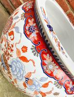 Large Late 19th Century Imari Guangxu Porcelain Fish Bowl (2 of 8)