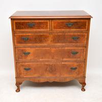 Antique Burr Walnut Chest of  Drawers (11 of 11)