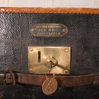 Vintage Overseas Voyage Trunk, English, Leather, Travel Case, Luggage c.1930 (11 of 12)