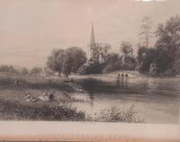 19th Century Print, Holy Trinity Church, Stratford upon Avon (3 of 4)