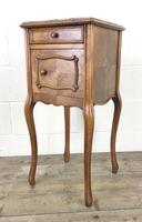 French Walnut and Marble Bedside Cupboard (9 of 9)
