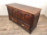18th Century Welsh Oak Coffer with Panel Front (3 of 19)