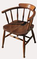 Victorian Elm Captains Chair (2 of 5)