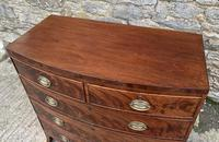Regency Flame Mahogany Bow Front Chest of Drawers (10 of 17)