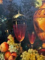 Old Master Revival - Large Original Antique Dutch Still Life of Flowers & Fruit (9 of 12)