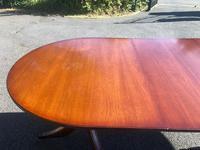 Quality Mahogany Twill Pillar Extending Dining Table (9 of 15)