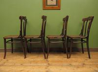 Four Antique Polish Thonet Style Bentwood Bistro Chairs with Pressed Seats (20 of 22)