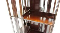 Good quality,  Edwardian inlaid Walnut 2 tier revolving bookcase (2 of 21)