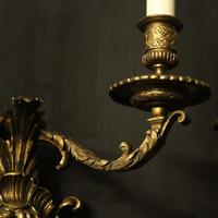 French 19th Century Bronze Bacchus Antique Wall Sconces (7 of 10)
