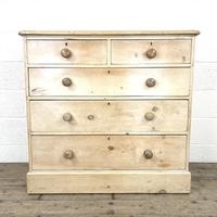 Antique Pine Chest of Drawers on Plinth Base (2 of 9)