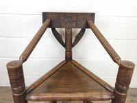 Antique Carved Oak Corner Chair (7 of 10)