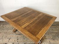 Early 20th Century Oak Draw Leaf Table (7 of 17)