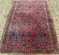 Fine Antique Saroukh Carpet / Rug (3 of 5)