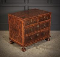 Rare Laburnum Oyster Veneer Chest of Drawers (3 of 4)