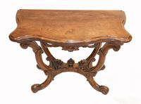 Victorian Card Table Antique Games Tables Rosewood c.1880 (2 of 13)