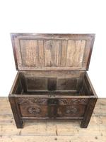 Small 18th Century Carved Oak Coffer (7 of 13)