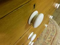 Victorian Stripped Pine Chest with White Porcelain Knobs - Carriage Paid  Most Areas (7 of 7)