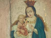 Antique Oil Painting Madonna & Child Murillo 18th Century (8 of 8)