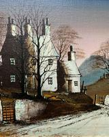 Ronald Folland Original Signed Winter Hamlet Landscape Oil Painting (4 of 12)