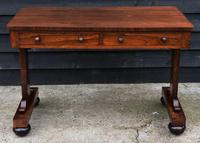 Superb Quality Regency Rosewood Library Table / Desk / Hall Table