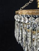 Italian Art Deco Three Tier Crystal Glass Chandelier with Sphere (5 of 7)