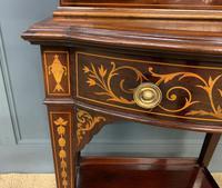 Edwardian Slender Inlaid Mahogany Display Cabinet (8 of 21)