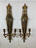Pair of Carved Giltwood Wall Candelabra (6 of 7)