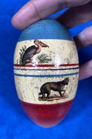 19th Century Skittles Game in Tunbridge Ware White Wood Painted Egg (19 of 21)