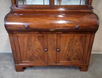 19th Century Figured Mahogany Cylinder Bureau Bookcase (11 of 12)
