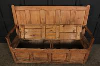 18th Century Rustic Pine Box Settle (6 of 12)
