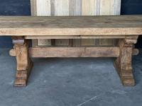 Superb Rustic Large Bleached Oak Farmhouse Table with Extensions (2 of 36)