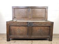 Early 19th Century Antique Oak Coffer Blanket Box (5 of 19)