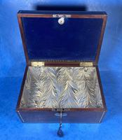 Georgian Brass Inlaid Mahogany Jewellery Box. (10 of 20)