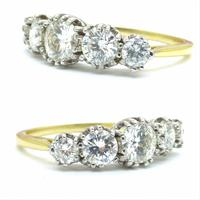 Vintage 18ct Platinum Five Stone Diamond Ring 1.20 Carat ~ with independent valuation (6 of 9)
