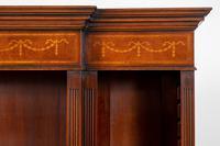Mahogany Inlaid Open Breakfront Bookcase (4 of 5)