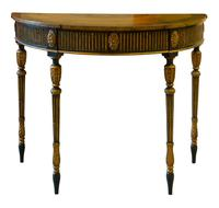 Painted George III Style Demi Lune Pier Table c1880 (7 of 8)