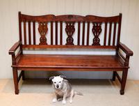 Edwardian Style Mahogany Bench (4 of 11)