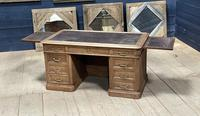 Quality 19th Century French Bleached Pedestal Desk (20 of 25)