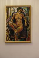Seated Female Nude Oil on Board by Dino Mazzzoli 1988 (3 of 5)