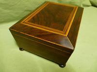Regency Rosewood Jewellery / Sewing Box - Original Tray + Accessories c.1820 (14 of 15)