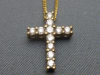 Gold & Diamond Cross & Chain (6 of 6)