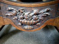 Late Victorian Carved Oak & Leather Armchair (5 of 14)
