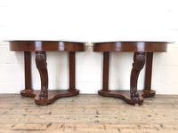 Pair of Demi Lune Tables with Marble Tops (3 of 10)