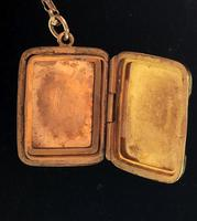 Art Deco 9ct Back & Front Gold Locket on Chain (2 of 10)