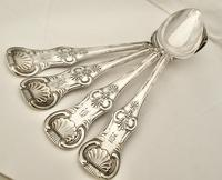 Rare Set of Four Antique Silver King's Pattern Serving Spoons Andrew Allison GLASGOW 1831