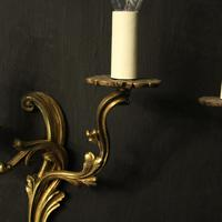 French Pair Of Gilded Twin Arm Wall Lights Oka04080 (4 of 10)