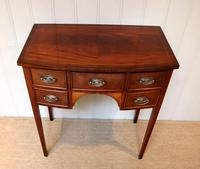 Mid Century Mahogany Bow Front Side Table (5 of 10)