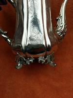 Antique Victorian Silver Plate Teapot C1870 Hand Engraved Folate Patterning with Bird, Maybe Eagle Finial (8 of 11)