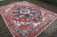 Fine Antique Heriz Room-size Carpet 389x283cm (7 of 11)